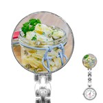 Potato salad in a jar on wooden Stainless Steel Nurses Watch Front