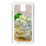 Potato salad in a jar on wooden Samsung Galaxy Note 3 N9005 Case (White) Front
