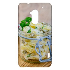 Potato salad in a jar on wooden HTC One Max (T6) Hardshell Case