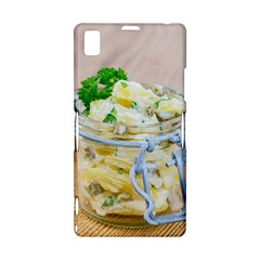 Potato salad in a jar on wooden Sony Xperia Z1