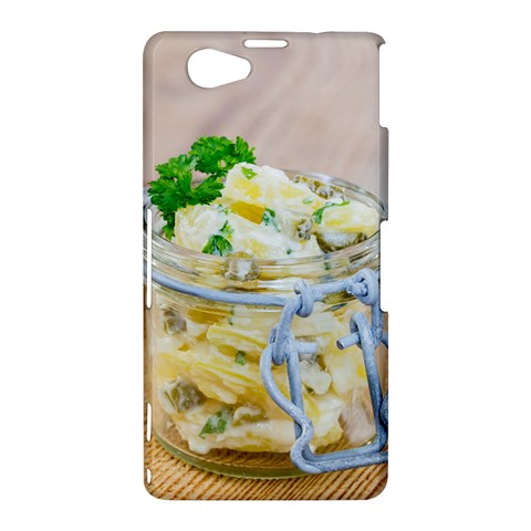 Potato salad in a jar on wooden Sony Xperia Z1 Compact