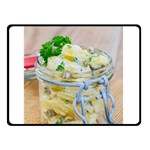 Potato salad in a jar on wooden Double Sided Fleece Blanket (Small)  45 x34 Blanket Back