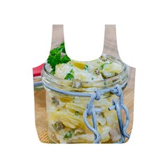Potato Salad In A Jar On Wooden Full Print Recycle Bags (s)