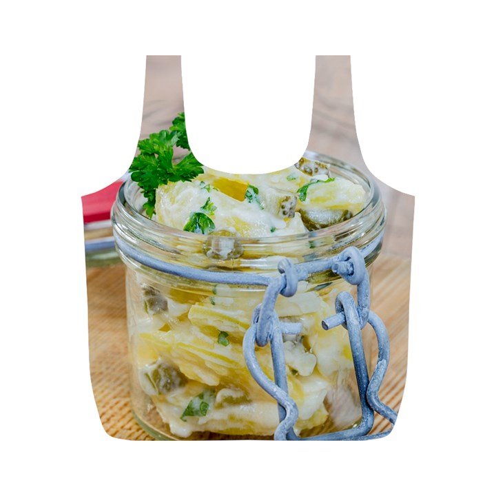 Potato salad in a jar on wooden Full Print Recycle Bags (M)