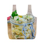 Potato salad in a jar on wooden Full Print Recycle Bags (M)  Back