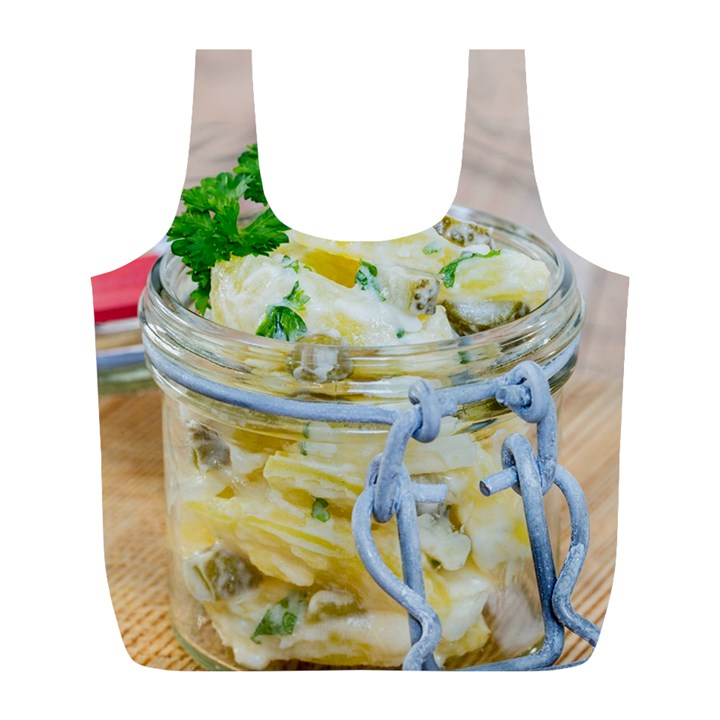 Potato salad in a jar on wooden Full Print Recycle Bags (L)