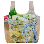 Potato salad in a jar on wooden Full Print Recycle Bags (L)  Back