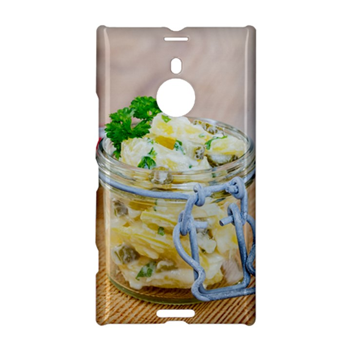 Potato salad in a jar on wooden Nokia Lumia 1520