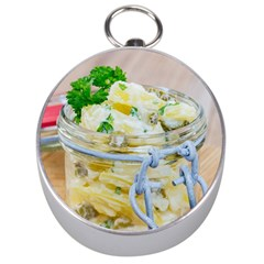 Potato Salad In A Jar On Wooden Silver Compasses