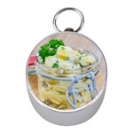 Potato salad in a jar on wooden Mini Silver Compasses Front