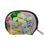 Potato salad in a jar on wooden Accessory Pouches (Small)  Back