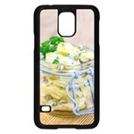 Potato salad in a jar on wooden Samsung Galaxy S5 Case (Black) Front
