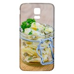 Potato salad in a jar on wooden Samsung Galaxy S5 Back Case (White) Front
