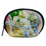 Potato salad in a jar on wooden Accessory Pouches (Medium)  Front