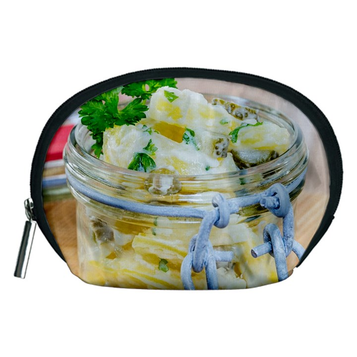 Potato salad in a jar on wooden Accessory Pouches (Medium)