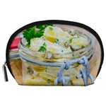 Potato salad in a jar on wooden Accessory Pouches (Large)  Front