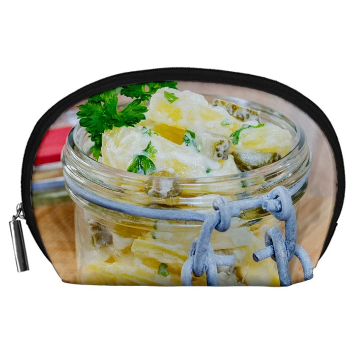 Potato salad in a jar on wooden Accessory Pouches (Large)