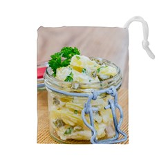 Potato Salad In A Jar On Wooden Drawstring Pouches (large)
