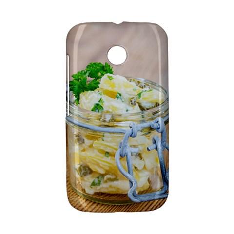 Potato salad in a jar on wooden Motorola Moto E