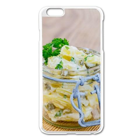 Potato salad in a jar on wooden Apple iPhone 6 Plus/6S Plus Enamel White Case
