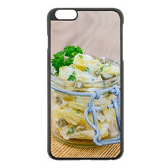 Potato salad in a jar on wooden Apple iPhone 6 Plus/6S Plus Black Enamel Case