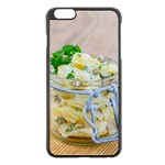 Potato salad in a jar on wooden Apple iPhone 6 Plus/6S Plus Black Enamel Case Front