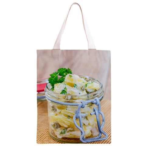 Potato salad in a jar on wooden Classic Light Tote Bag
