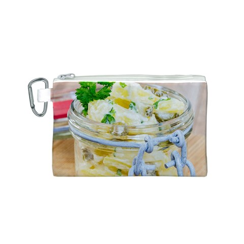 Potato salad in a jar on wooden Canvas Cosmetic Bag (S)