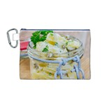 Potato salad in a jar on wooden Canvas Cosmetic Bag (M) Front