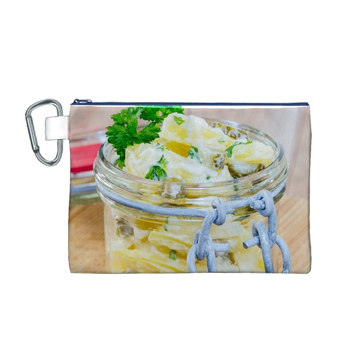 Potato salad in a jar on wooden Canvas Cosmetic Bag (M)