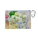 Potato salad in a jar on wooden Canvas Cosmetic Bag (M) Back