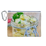 Potato salad in a jar on wooden Canvas Cosmetic Bag (L) Front