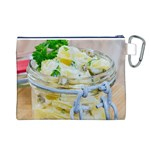 Potato salad in a jar on wooden Canvas Cosmetic Bag (L) Back