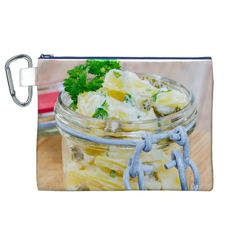 Potato salad in a jar on wooden Canvas Cosmetic Bag (XL)