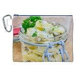 Potato salad in a jar on wooden Canvas Cosmetic Bag (XXL) Front