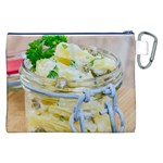 Potato salad in a jar on wooden Canvas Cosmetic Bag (XXL) Back