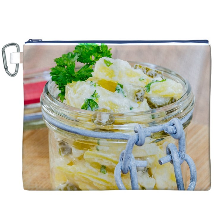 Potato salad in a jar on wooden Canvas Cosmetic Bag (XXXL)