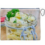 Potato salad in a jar on wooden Canvas Cosmetic Bag (XXXL) Back