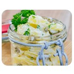 Potato salad in a jar on wooden Double Sided Flano Blanket (Medium)  60 x50 Blanket Back
