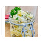 Potato salad in a jar on wooden Double Sided Flano Blanket (Large)   Blanket Back