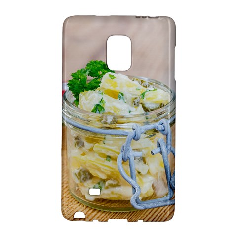 Potato salad in a jar on wooden Galaxy Note Edge
