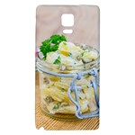 Potato salad in a jar on wooden Galaxy Note 4 Back Case Front