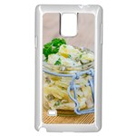 Potato salad in a jar on wooden Samsung Galaxy Note 4 Case (White) Front