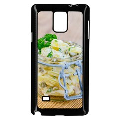 Potato salad in a jar on wooden Samsung Galaxy Note 4 Case (Black)
