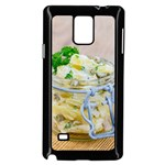 Potato salad in a jar on wooden Samsung Galaxy Note 4 Case (Black) Front
