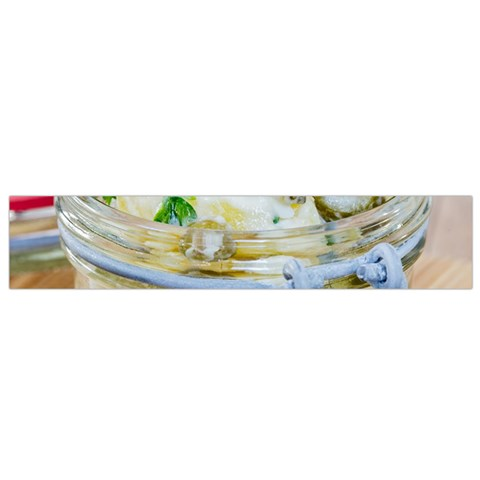 Potato salad in a jar on wooden Flano Scarf (Small)