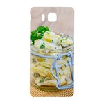 Potato salad in a jar on wooden Samsung Galaxy Alpha Hardshell Back Case Front