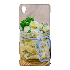 Potato salad in a jar on wooden Sony Xperia Z3