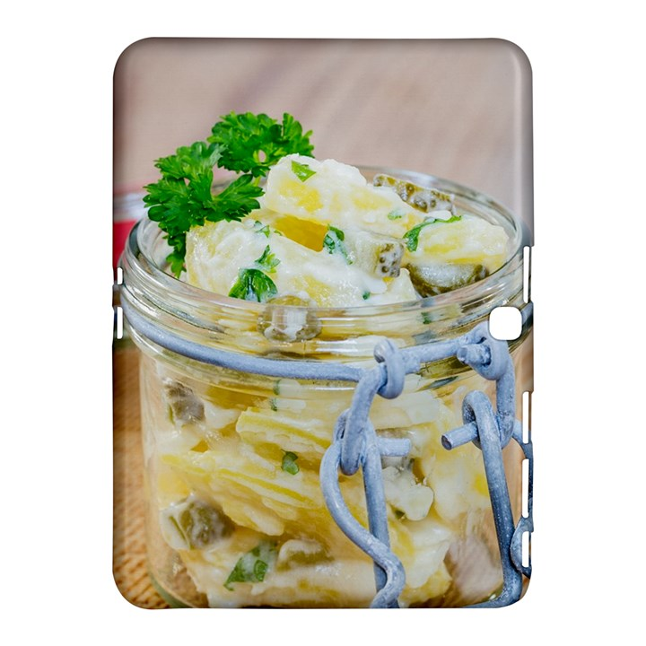 Potato salad in a jar on wooden Samsung Galaxy Tab 4 (10.1 ) Hardshell Case
