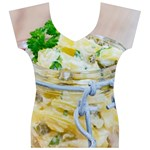 Potato salad in a jar on wooden Women s V-Neck Cap Sleeve Top Front